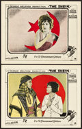 "Movie Posters:Romance, The Sheik (Paramount, 1921). Lobby Cards (2) (11"" X 14"").. ...(Total: 2 Items)"