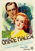 "Movie Posters:Film Noir, The Letter (Warner Brothers, 1940). First Post-War Release Italian Poster (27.5"" X 39"").. ..."