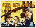 "Movie Posters:Adventure, The Bowery (United Artists, 1933). Half Sheet (22"" X 28"").. ..."