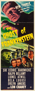 "Movie Posters:Horror, The Ghost of Frankenstein (Universal, 1942). Insert (14"" X 36"").. ..."