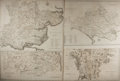 "Books:Maps & Atlases, [Antique Maps] Lot of Four Engraved English Maps: Dorsetshire, Westmoreland, Norfolk, and Essex. 21"" x 17"". Removed from a l..."
