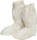 Explorers:Space Exploration, Apollo 11: Neil Armstrong Training-Used Beta Cloth Boots (Pair) with Original Tagging. ...