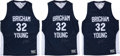 Basketball Collectibles:Uniforms, 2011-12 Jimmer Fredette Signed BYU Jersey Lot of 3. ...