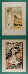 Books:Prints & Leaves, [Antique Prints] Lot of Two Chromolithographs Featuring FrenchMusical and Theater Illustrations. Uniformly matted to an ove...