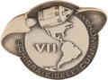Explorers:Space Exploration, Apollo 7 Flown Silver Robbins Medallion, Serial Number 158, with Signed LOA from Backup Lunar Module Pilot Gene Cernan. ...