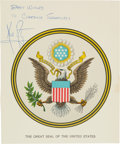 Autographs:Celebrities, Neil Armstrong Signed Great Seal of the United States....