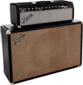 Musical Instruments:Amplifiers, PA, & Effects, 1965 Fender Bandmaster Black Guitar Amplifier Head and Cabinet....