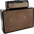 Musical Instruments:Amplifiers, PA, & Effects, 1967 Fender Dual Showman Black Guitar Amplifier....