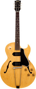 Musical Instruments:Electric Guitars, 1958 Gibson ES-225TDN Natural Semi-Hollow Body Electric Guitar,Serial # T7606....