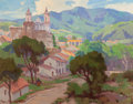 American:Western, MARION KAVANAUGH WACHTEL (American, 1876-1954). Taxco,Mexico, circa 1925. Oil on canvas. 16 x 20 inches (40.6 x 50.8cm...