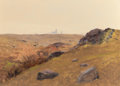 Fine Art - Painting, American:Antique  (Pre 1900), LOCKWOOD DE FOREST (American, 1850-1932). Summer Hills; DesertLight (a pair), 1878. Oil on paper board. 10 x 12-1/2 inc...(Total: 2 Items)