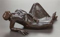 Sculpture, R.C. GORMAN (American, 1932-2005). Reclining Woman. Bronze with brown patina. 28 inches (71.1 cm) . Inscribed on bottom ...