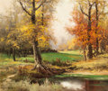 Paintings, ROBERT WILLIAM WOOD (American, 1889-1979). Early Fall, 1955. Oil on canvas. 24 x 30 inches (61.0 x 76.2 cm). Signed and ...