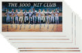 Autographs:Others, 1980's 3,000 Hit Club Signed Posters Lot of 11....