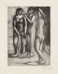 Prints:European Modern, PABLO PICASSO (Spanish, 1881-1973). Group de trois femmes,1923; printed in 1929. Etching and drypoint. 7 x 5-1/8 inches...