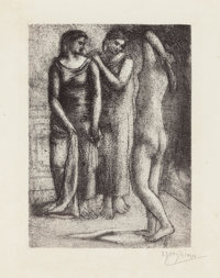 PABLO PICASSO (Spanish, 1881-1973) Group de trois femmes, 1923; printed in 1929 Etching and drypoint
