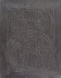 JASPER JOHNS (American, b. 1930) 0 Through 9, 1970 Lead relief 30-1/4 x 23-3/4 inches (76.8 x 60