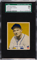 Baseball Cards:Singles (1940-1949), 1949 Bowman Early Wynn #110 SGC 96 Mint 9 - Pop One, Highest SGCExample! ...