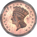Patterns, 1871 G$1 Gold Dollar, Judd-1161, Pollock-1303, R.8, PR65 Red and Brown NGC....