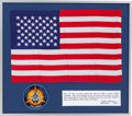 Explorers:Space Exploration, Space Shuttle Columbia (STS-3) Flown Largest-Size AmericanFlag in Framed Display Directly from the Personal Colle...