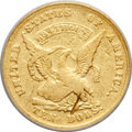 Territorial Gold, 1852 $10 Humbert Ten Dollar VF35 PCGS. K-10a, Low R.4....