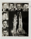 Autographs:Celebrities, Mercury Seven Astronauts: Photo Signed by All, Originally from the Personal Collection of Deke Slayton. ...