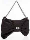 Luxury Accessories:Bags, Chanel Black Satin Large Bow Evening Bag with Gunmetal Hardware....