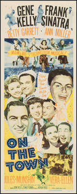 "On the Town (MGM, 1949). Insert (14"" X 36""). Musical"