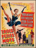 """Movie Posters:Musical, Three Little Words (MGM, 1950). Belgian (14"""" X 18.75""""). Musical.. ..."""