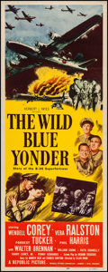 "Movie Posters:War, The Wild Blue Yonder (Republic, 1951). Insert (14"" X 36""). War....."