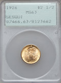 Commemorative Gold: , 1926 $2 1/2 Sesquicentennial MS63 PCGS. PCGS Population(2385/6449). NGC Census: (1433/4014). Mintage: 46,019. NumismediaW...