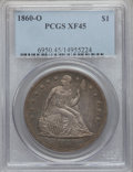 Seated Dollars: , 1860-O $1 XF45 PCGS. PCGS Population (84/976). NGC Census:(44/660). Mintage: 515,000. Numismedia Wsl. Price for problem fr...