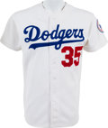 Baseball Collectibles:Uniforms, 1980 Bob Welch Game Worn Los Angeles Dodgers Jersey. ...