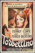 "Movie Posters:Film Noir, Whirlpool (20th Century Fox, 1950). Spanish Language One Sheet (27""X 41""). Film Noir.. ..."