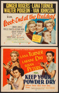 "Movie Posters:War, Keep Your Powder Dry & Other Lot (MGM, 1945). Title Lobby Cards (2) (11"" X 14""). War.. ... (Total: 2 Items)"