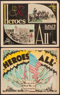 "Movie Posters:Documentary, Heroes All (Imperial, 1931). Title Lobby Card and Lobby Card (11"" X 14""). Documentary.. ... (Total: 2 Items)"
