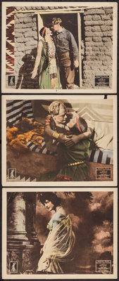 "The Red Woman (Equitable Motion Pictures, 1917). Lobby Cards (3) (11"" X 14"") AKA Her God. Western. ... (Total:..."