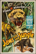 "Movie Posters:Adventure, Jaws of the Jungle (Jay-Dee-Kay Productions, 1936). One Sheet (27""X 41""). Adventure.. ..."