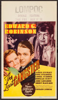 """Movie Posters:Crime, The Last Gangster (MGM, 1937). Mini Window Card (8"""" X 14""""). Crime....."""