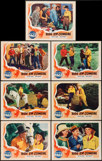 """Ride 'Em Cowgirl (Grand National, 1939). Lobby Cards (7) (11"""" X 14""""). Western. ... (Total: 7 Items)"""