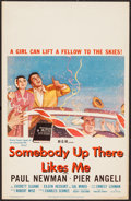 "Movie Posters:Drama, Somebody Up There Likes Me (MGM, 1956). Window Card (14"" X 22""). Drama.. ..."