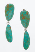 Estate Jewelry:Earrings, Turquoise, Sterling Silver Earrings. ...