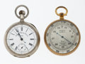 Timepieces:Other , Chronometer & A Tycos Pocket Watch Thermometer. ... (Total: 2 Items)