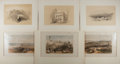 Books:Prints & Leaves, David Roberts (1796-1864), artist. Group of Six Vintage Tinted andColored Lithograph Depicting Scenes From the Holy Land. 1...