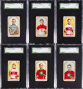 "Hockey Cards:Lots, 1911-12 C55 ""Hockey Series"" SGC Graded Collection (6) With Ross& Lalonde. ..."