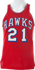 Basketball Collectibles:Uniforms, 1957-59 Jack McMahon Game Worn St. Louis Hawks Jersey. ...