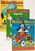 Platinum Age (1897-1937):Miscellaneous, Mickey Mouse Magazine V2#11, V3#3, and V3#6 Apparent Group (K. K. Publications/ Western Publishing Co., 1937-38).... (Total: 3 Items)