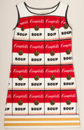Post-War & Contemporary:Pop, ANDY WARHOL (American, 1928-1987). Souper Dress, circa 1968.Color screenprint on cellulose and cotton. 37-3/4 x 22-3/4 ...