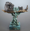 Sculpture, E.C. WYNNE (American, 20th Century). Sea Cradle. Bronze with patina and polychrome. 17 x 16 x 9 inches (43.2 x 40.6 x 22...