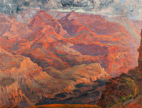 JOHN HENRY RAMM (American, 1879-1948) Grand Canyon Oil on canvas 34 x 44 inches (86.4 x 111.8 cm)